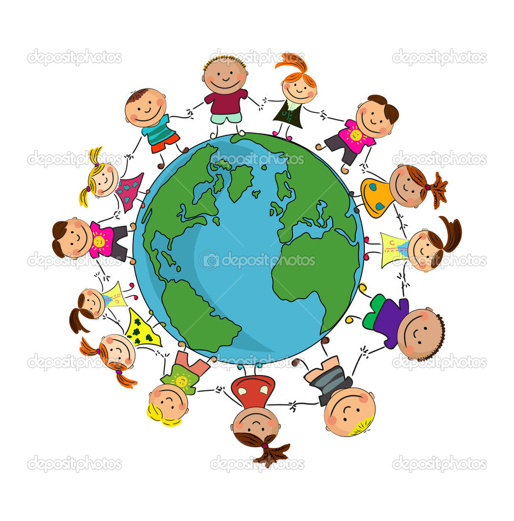Kids around the world. — Stock Vector #2613062