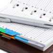 Stock Photo: Pocket planner and pen