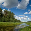 Summer landscape with clouds and river — Foto Stock #1700591