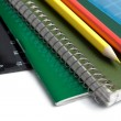 School accessories background — Stock Photo