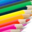 Line of colorful pencils isolated — Stock Photo #1701140