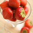 Royalty-Free Stock Photo: Ripe strawberries in glass bowl