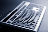 Abstract dark keyboard — Stock Photo