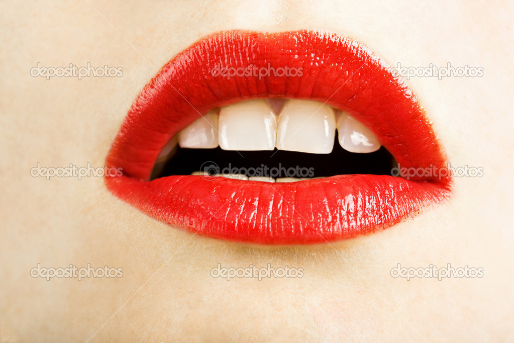 Beautiful red lips  Stock Photo #1707612