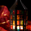Royalty-Free Stock Photo: Coloful lantern burning in the dark