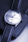 Reloj y organizador de cuero — Foto de Stock