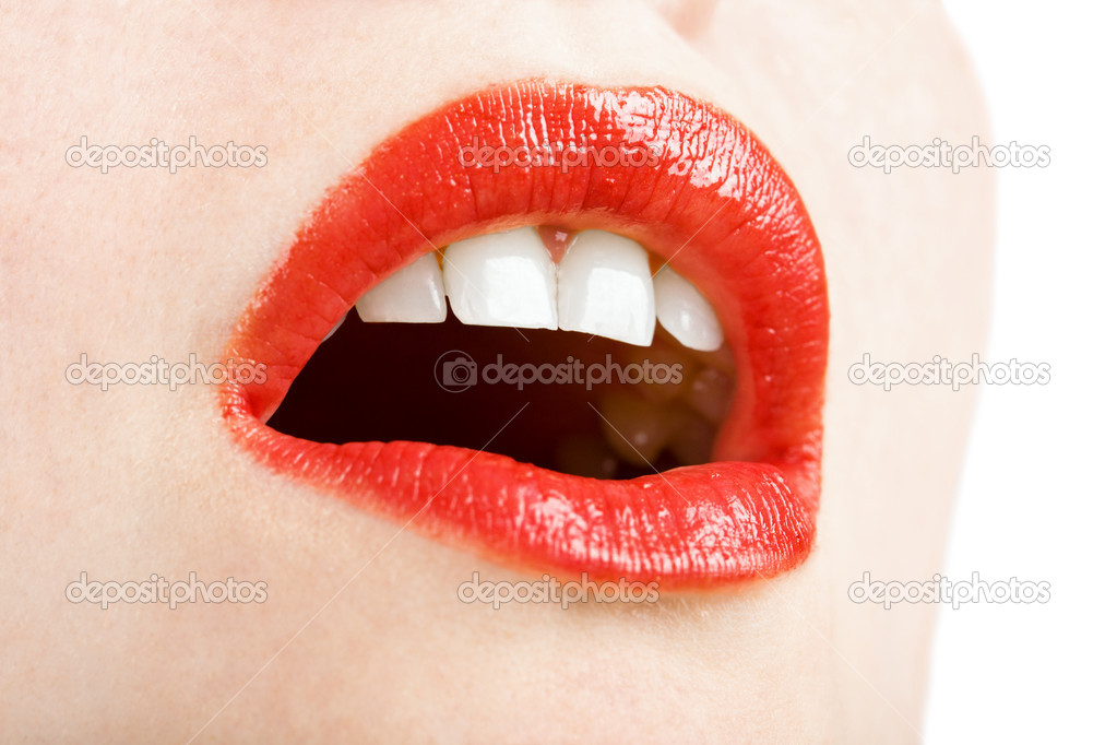 Beautiful red lips — Stock Photo #1716985