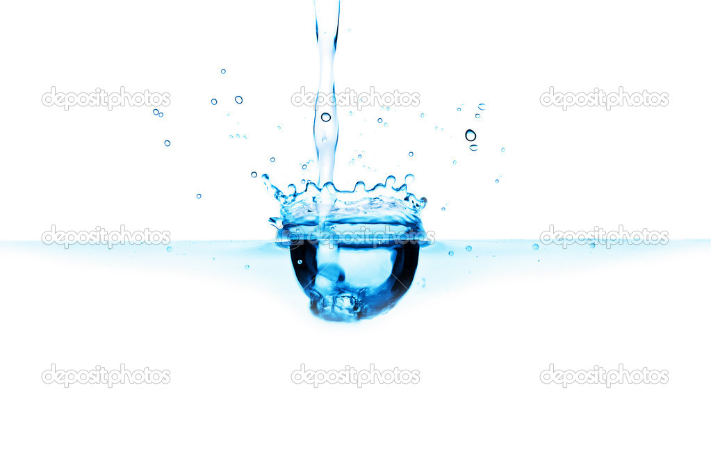 Abstract blue water splash isolated — Stock Photo #1753694