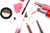 Colorful makeup collection isolated — Stock Photo