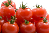 Heap of ripe tomatoes isolated — Foto Stock