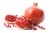Perfect pomegranate isolated — Stock Photo