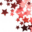 Holiday red stars isolated — Stock Photo