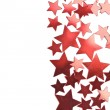 Holiday red stars frame isolated — Stock Photo #1787938