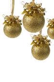Golden christmas ball isolated — Stock Photo