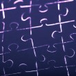 Stock Photo: Puzzle with burning edges