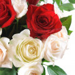 White and red roses — Stock Photo #1443155