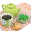 Teapot with cup — Stock Photo #1443667