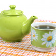 Teapot with a cup — Stock Photo #1443676