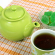 Teapot with a cup — Stock Photo