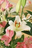 Bouquet with a white lily — Stock Photo