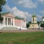 Panorama of memorial estate Kuskovo — Stock Photo #1418397