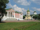 Panorama of memorial estate Kuskovo — Stock Photo