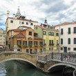 Romantic bridge over canal in of Venice — Stock Photo #1519792