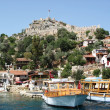 Ancient fortress in Kekova - Stock Photo