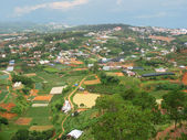 Panoramic view on Dalat city — Stock Photo