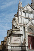 Monument Dante Alighieri in Florence — Stock Photo