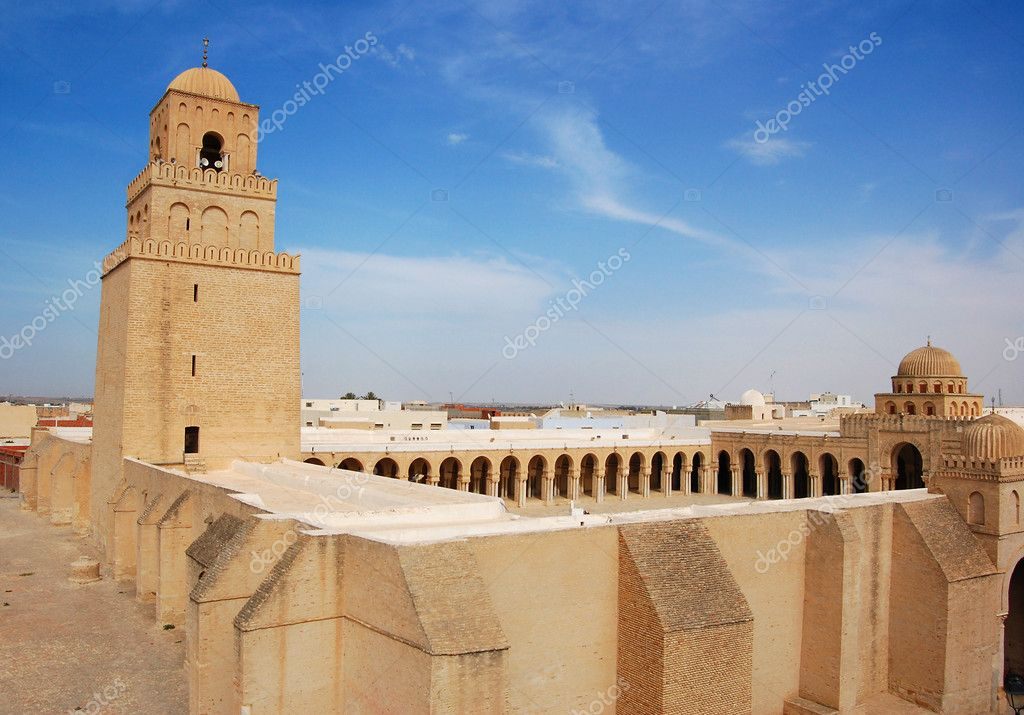Great Mosque of Kairouan, Tunisia — Stock Photo #1516337