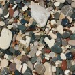Color pebble stones texture — Stock Photo