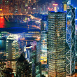 Hong Kong downtown at night - Stock Photo