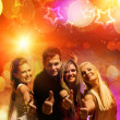 Happy friends in the night club — Stock Photo #1420856