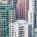 Urban buildings background — Stock Photo