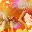 Girls dancing in the night club - Foto Stock