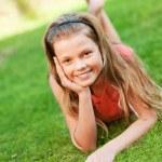 Happy teenager outdoor — Stock Photo #1420964
