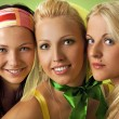 Three young woman close-up portrait — Stock Photo #1421061