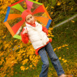 Beautiful little girl with umbrella — Stock Photo #1421217