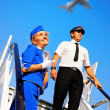 Stock Photo: Cabin crew couple