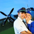Cabin crew couple — Stock Photo
