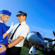 Cabin crew couple — Stock Photo #1421444