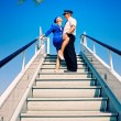 Cabin crew couple — Stock Photo #1421451