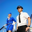 Cabin crew couple — Stock Photo #1421465