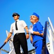 Picture of a cabin crew couple - Stock Photo