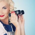 Lovely woman retro portrait — Stock Photo