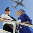 Royalty-Free Stock Photo: Picture of a cabin crew couple