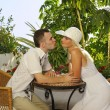 Stockfoto: Young happy couple outdoors