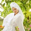 Young beautiful woman after bath — Stock Photo #1421697