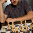 Thoughtful chess master — Stock Photo #1422158